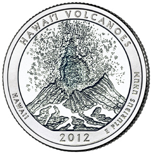 Quarter Dollar 2012 P USA UNC Hawaii Volcanoes