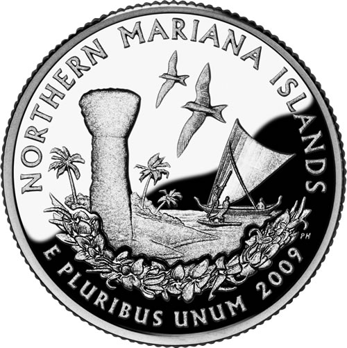 1/4 Dollar 2009 P USA Northern Mariana Islands
